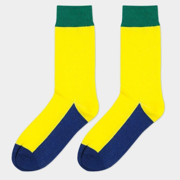 Монотонные носки цвета бразильского флага