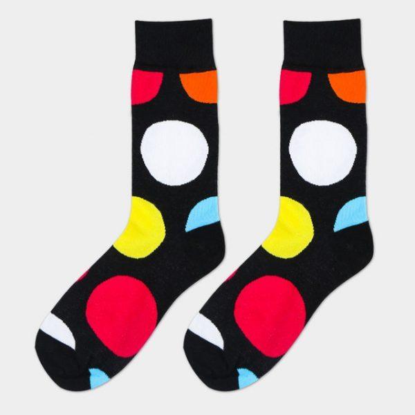 Носки с орнаментом разноцветных шаров разных размеров