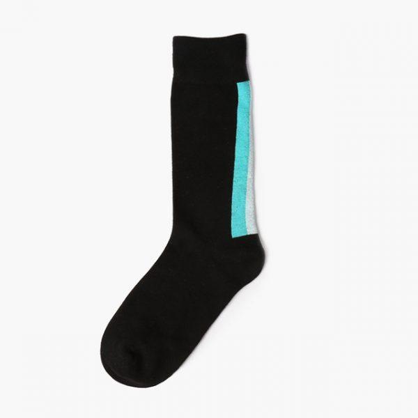 Носки Mono черные с трехцветной вставкой