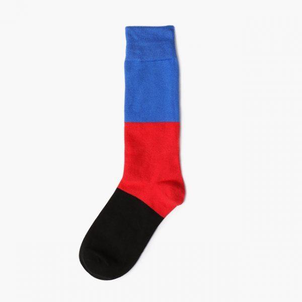 Носки Mono трехцветные с сине-черным оттенком