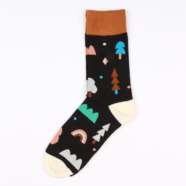 Цветные носки унисекс с деревьями корейской марки Ideasocks