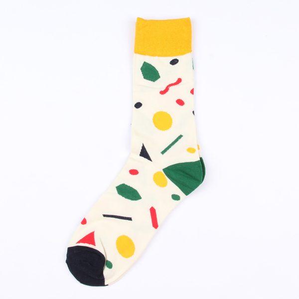 Цветные носки унисекс с орнаментом корейской марки Ideasocks