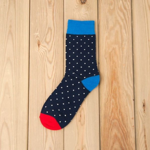 Носки Mantieqingway темно-синие с точками