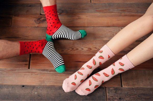 Носки Caramella высокие с изображением арбузов