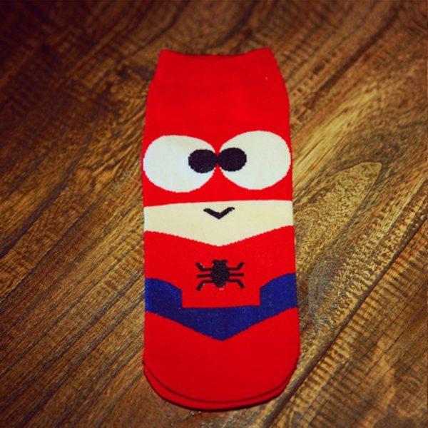 Короткие спортивные носки Bentain серии Superhero с изображением человека-паука