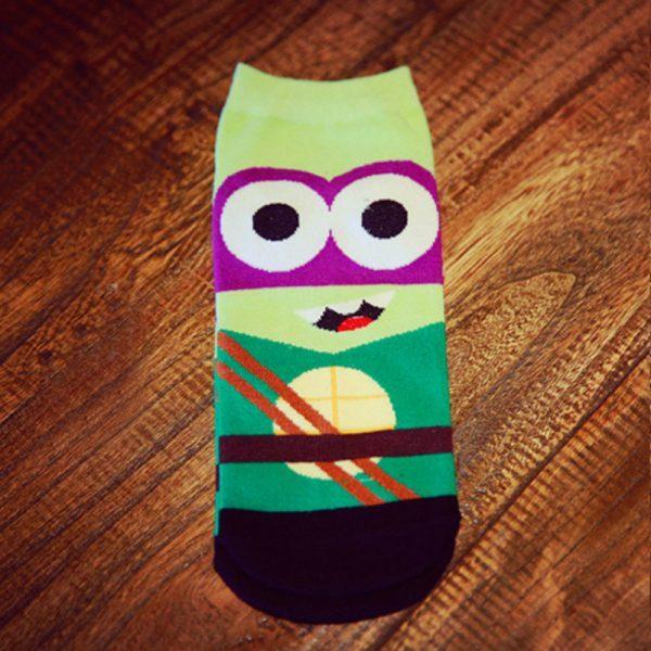 Короткие спортивные носки Bentain серии Superhero с изображением черепашки-ниндзя