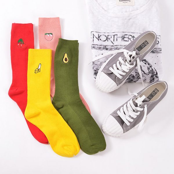 Плотные носки Menteur с изображением банана в винтажном стиле
