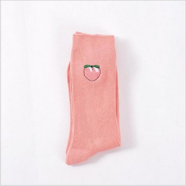 Плотные носки Menteur с изображением клубники в винтажном стиле