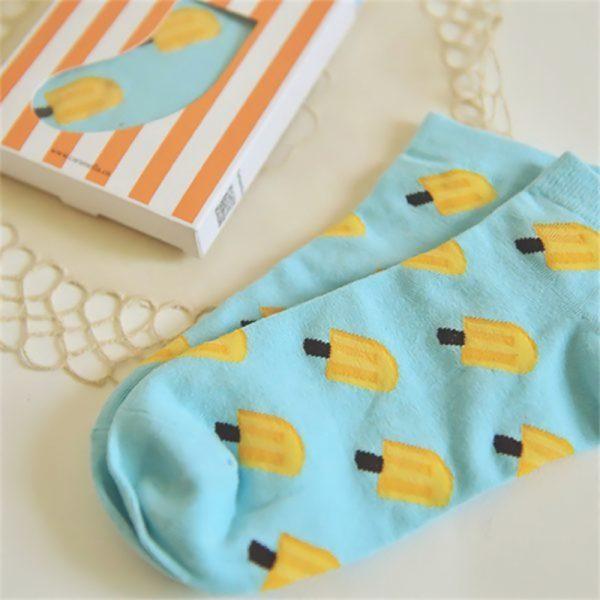 Короткие спортивные носки Caramella с изображением мороженого