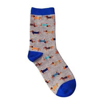 Носки Caramella высокие с вышивкой собак разной породы