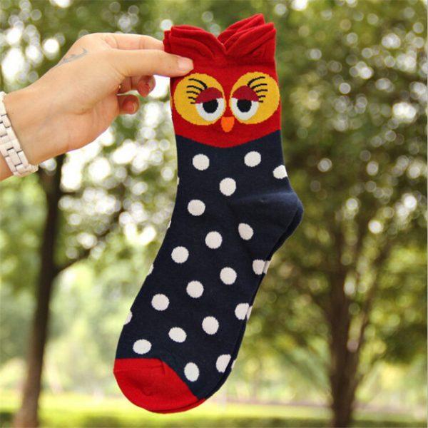 Женские носки в виде совы в синихтонах