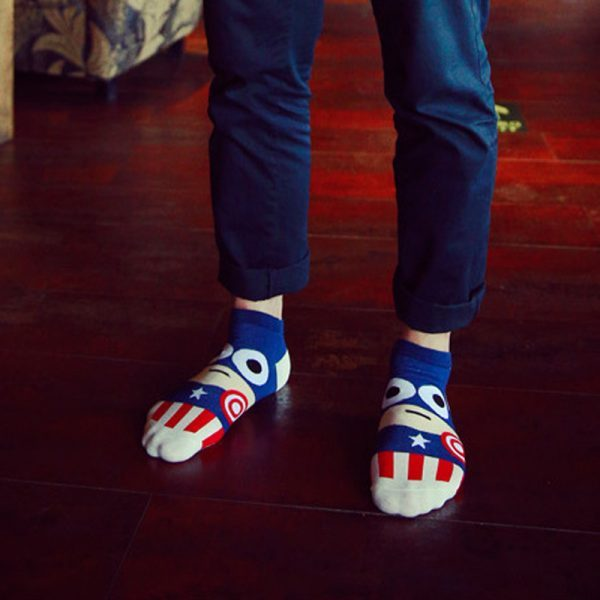 Короткие спортивные носки Bentain серии Superhero с изображением Капитана Америка