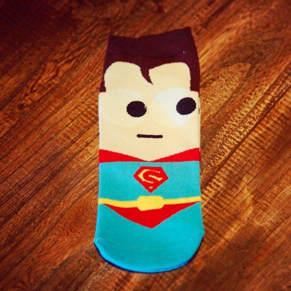 Короткие спортивные носки Bentain серии Superhero с изображением Супермена