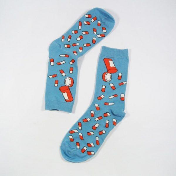 Носки Caramella высокие с изображениемтаблеток