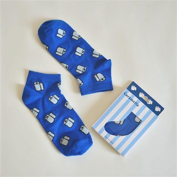 Короткие спортивные носки Caramella с изображениемтуалетной бумаги