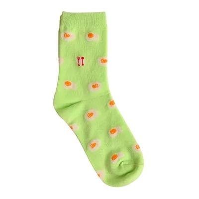 Носки Caramella высокие с изображением яичницы