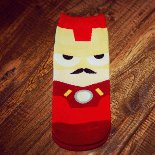 Короткие спортивные носки Bentain серии Superhero с изображением Железного человека