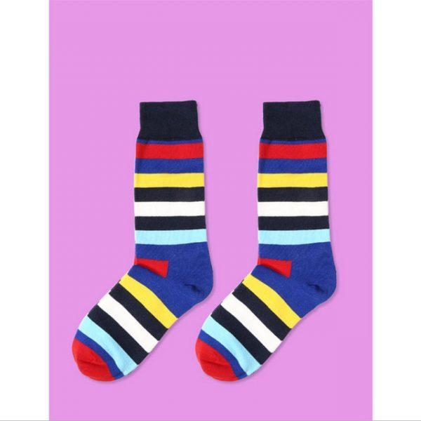 Цветные полосатые носки RainbowBBR