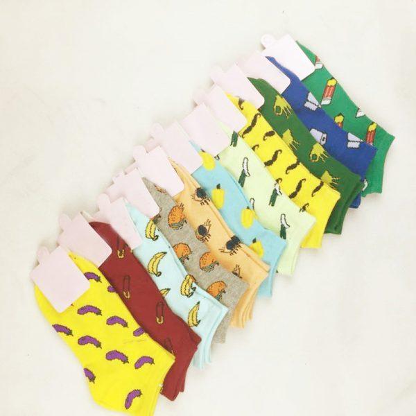 Короткие спортивные носки Caramella с изображением бананов
