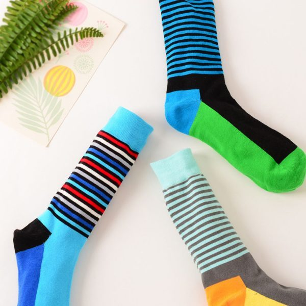 Веселые повседневные носки с желтой базой