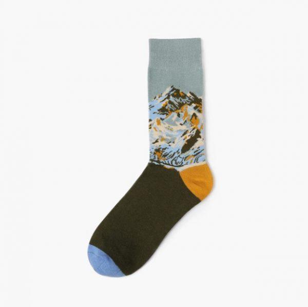 Хипстерские носки с горами Barber Stue 7 Mountain View