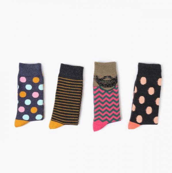 Хипстерские носки с цветными точками Barber Stue 3 Color Dots