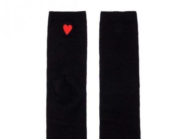 Черные носки с сердечком Jumeaux
