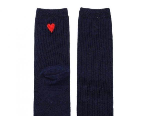 Синие носки с сердечком Jumeaux