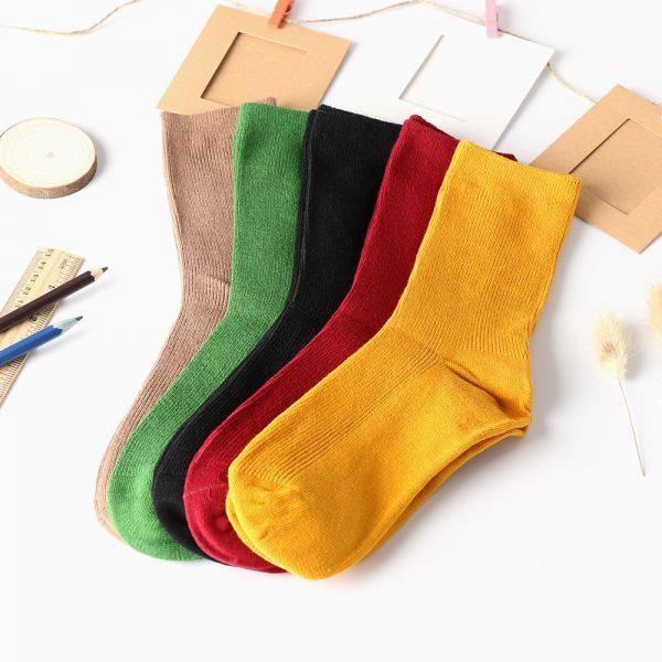 Носки без рисунка бардового цвета от маркиArherigele