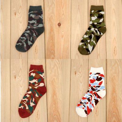 Набор из четырех носков военной палитрыMantieqingway Military