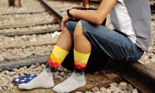 Набор из шести носков с яркими ромбами Happy Socks